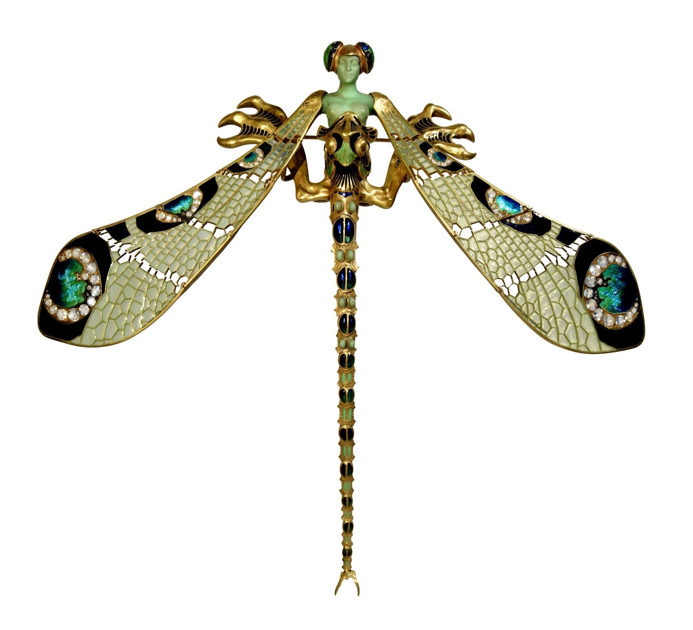 Large Corsage Ornament in the Form of a Dragonfly