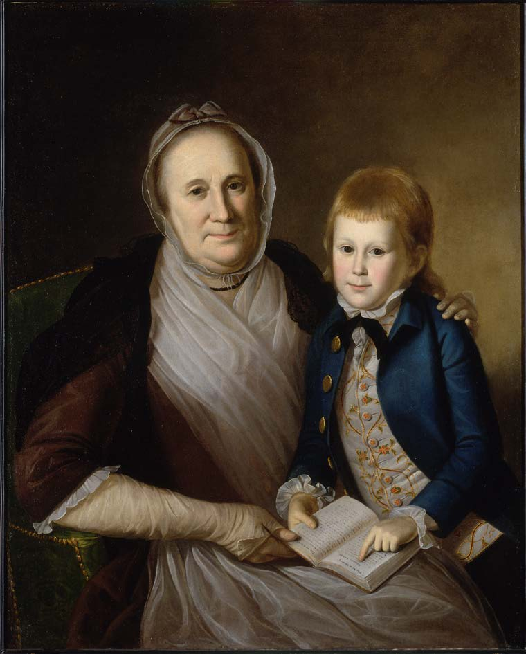 Mrs. James Smith and Her Grandson