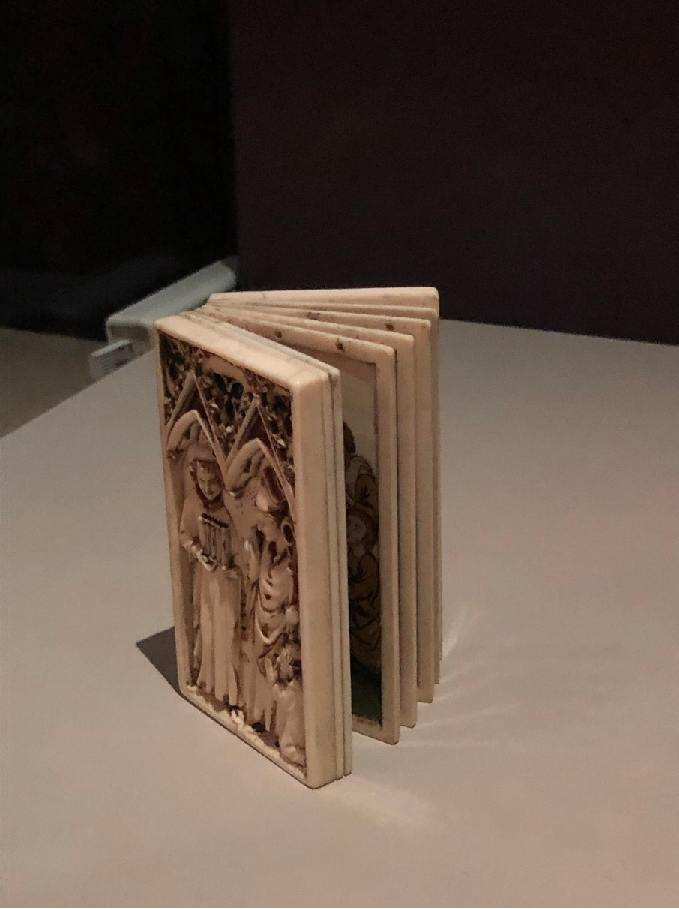 Ivory devotional booklet from c. 1330-1340