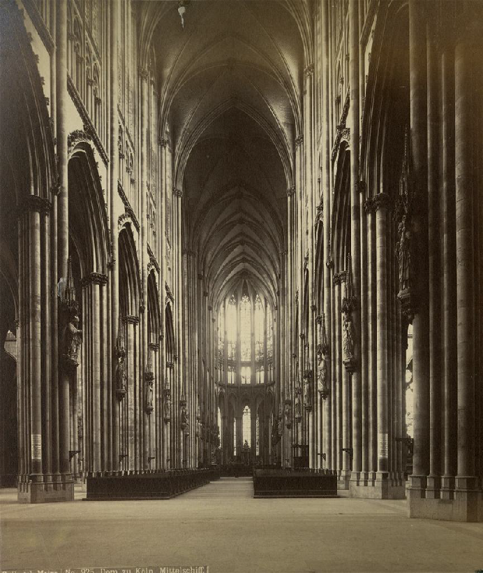 Interior photo of the Cathedral of Cologne by Carl Hertel