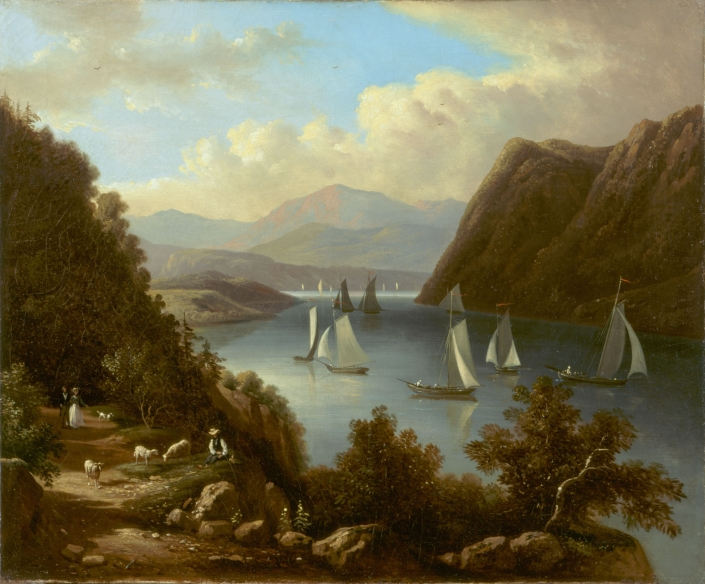 Entrance to the Highlands on the Hudson (c. 1845)