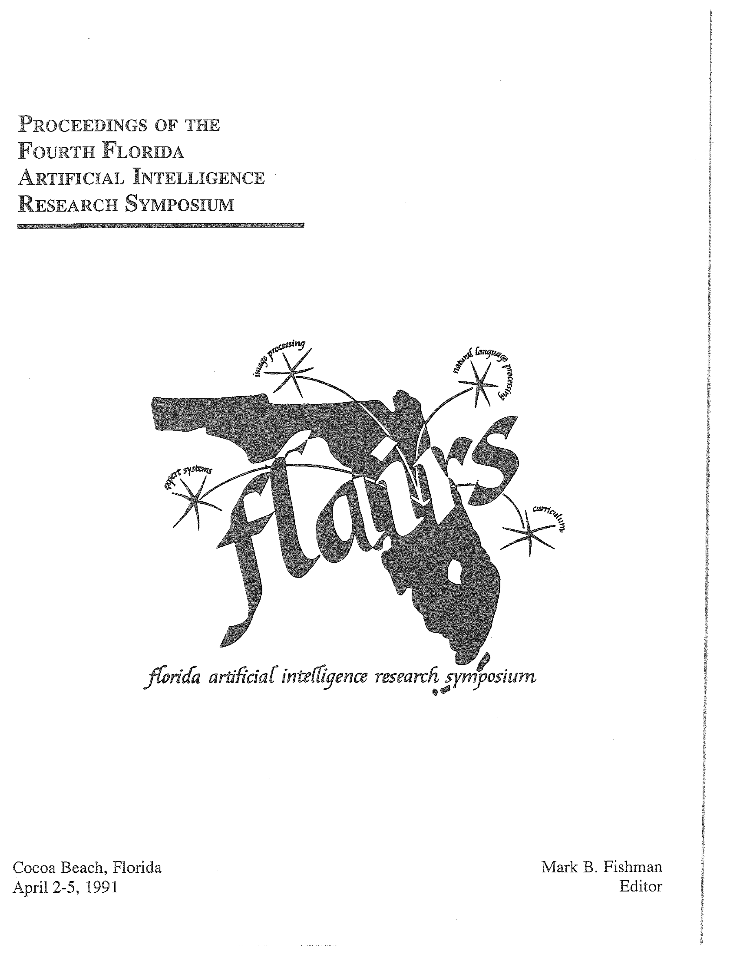 Proceedings of FLAIRS-4, cover
