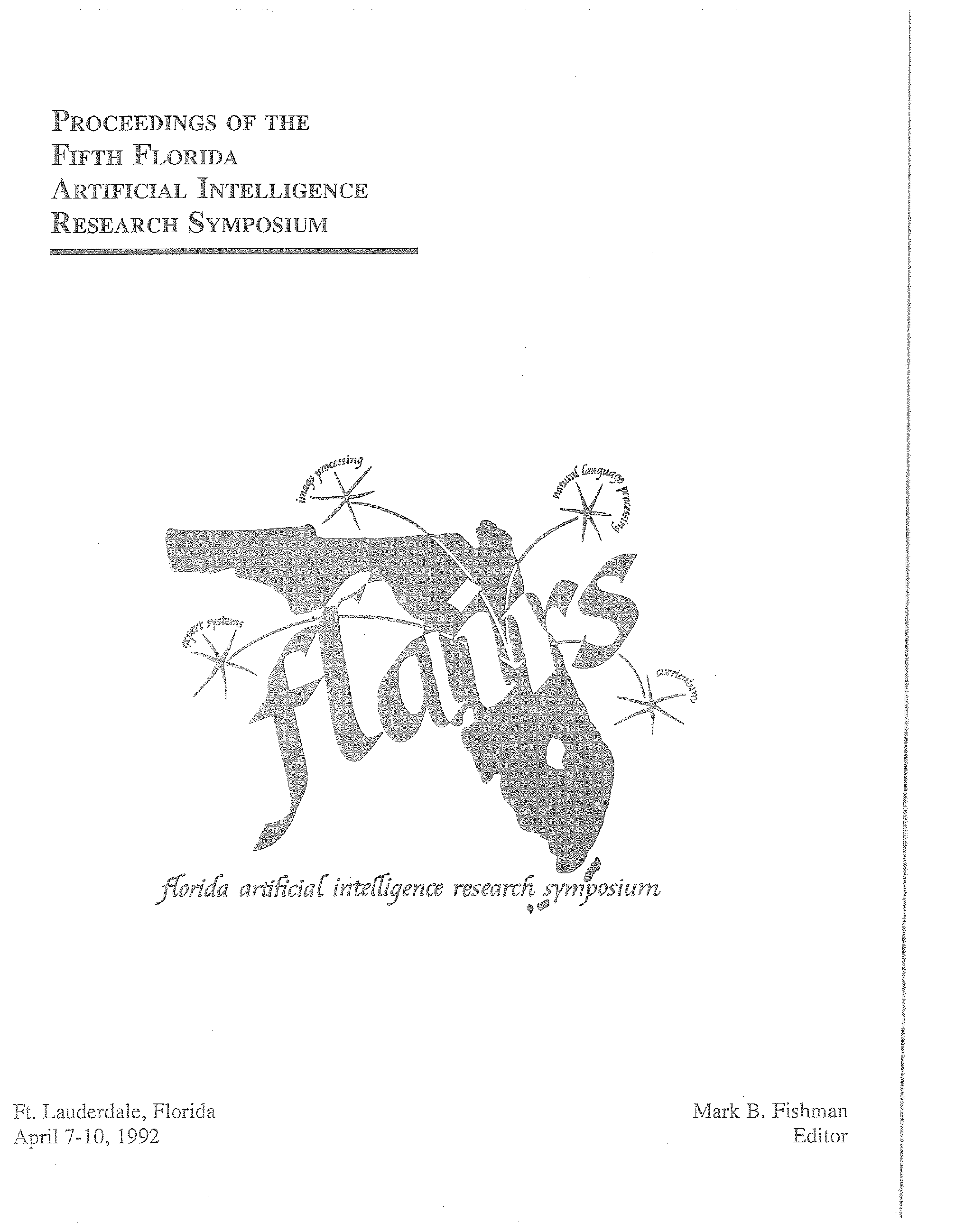 Proceedings of FLAIRS-5, cover