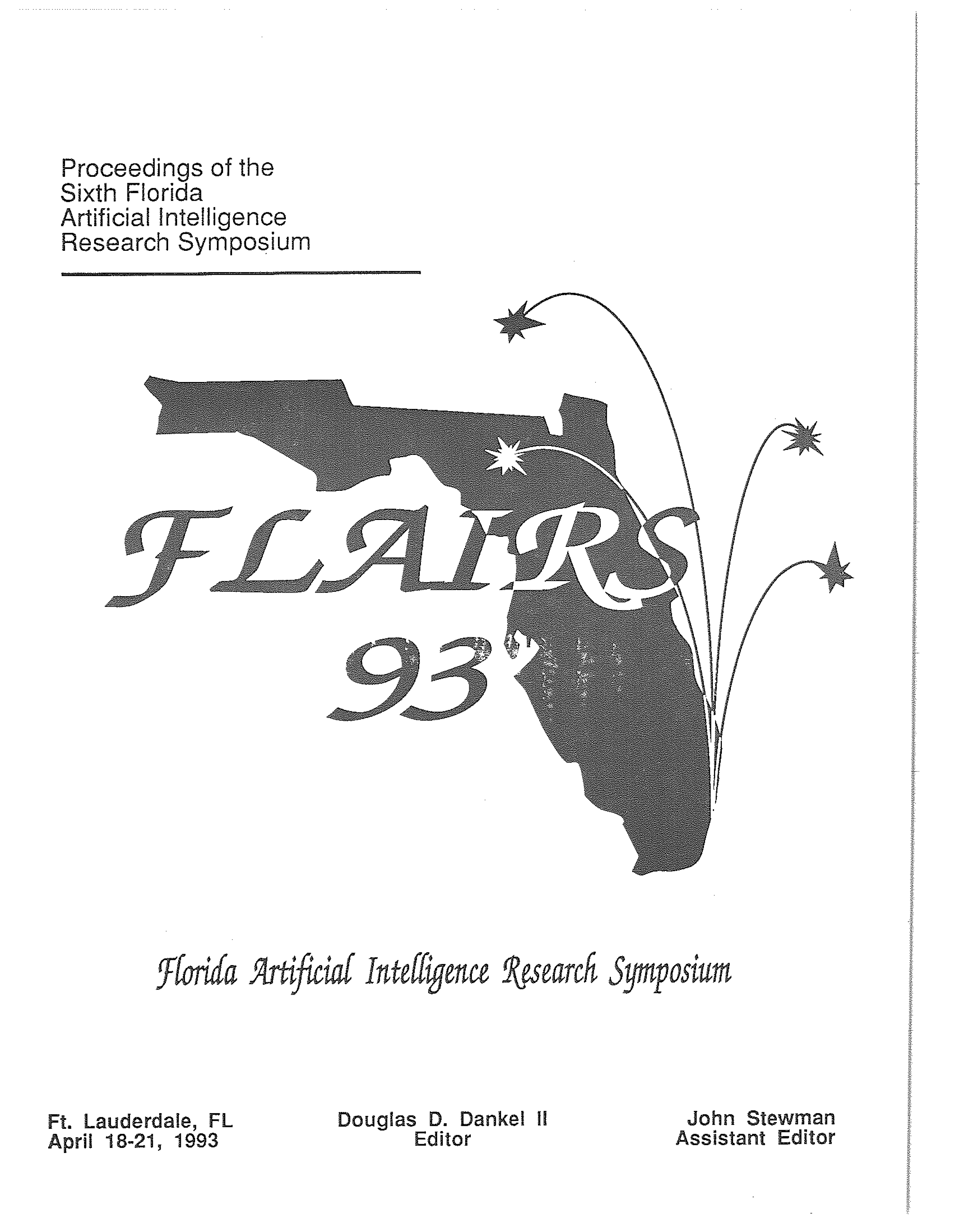 Proceedings of FLAIRS-6, cover