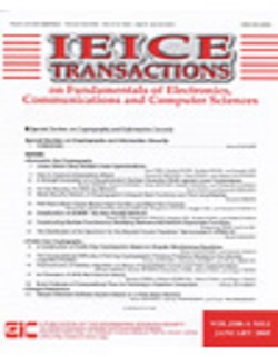 IEICE Transactions on Fundamentals of Electronics, Communications and Computer Sciences