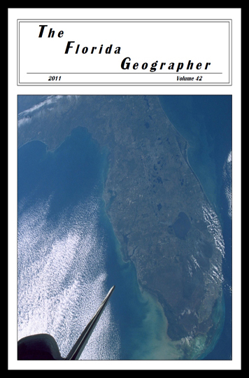 2011 Cover of the Florida Geographer