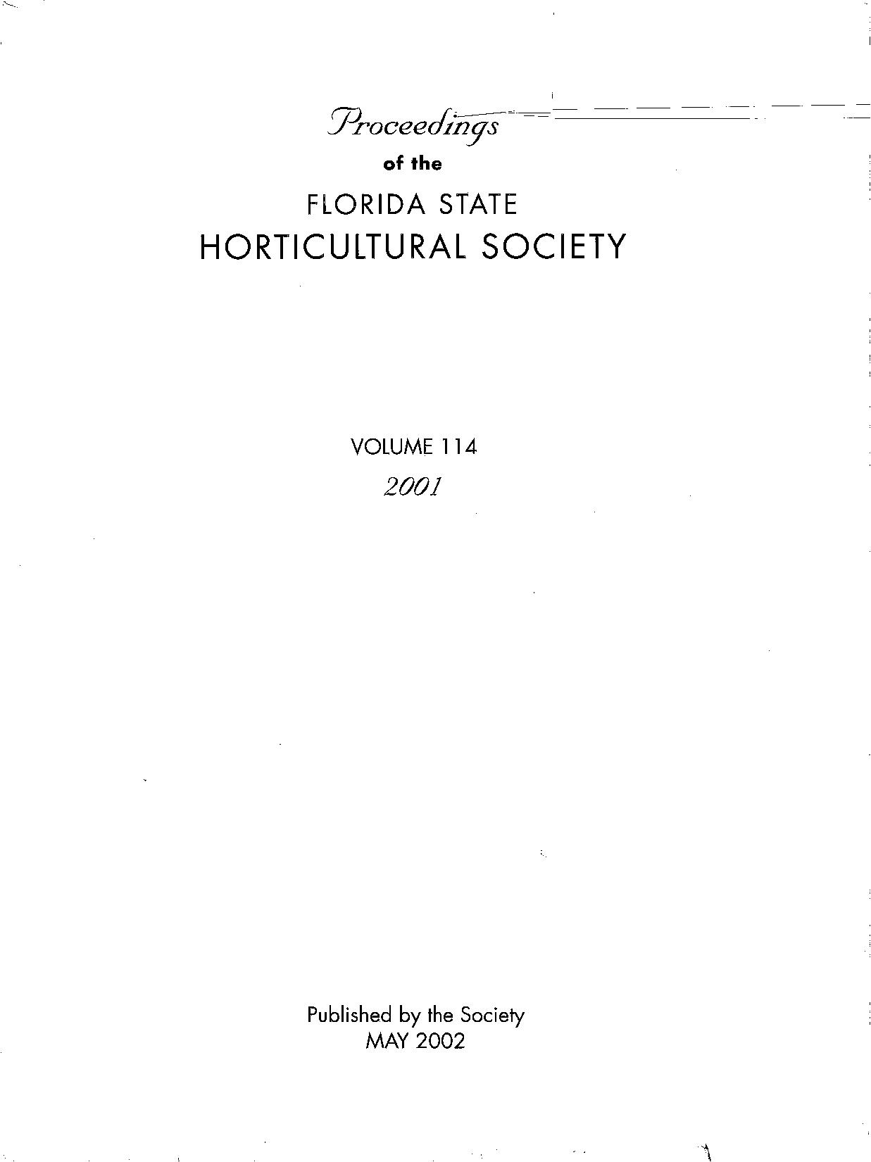 front cover of vol 114, 2001