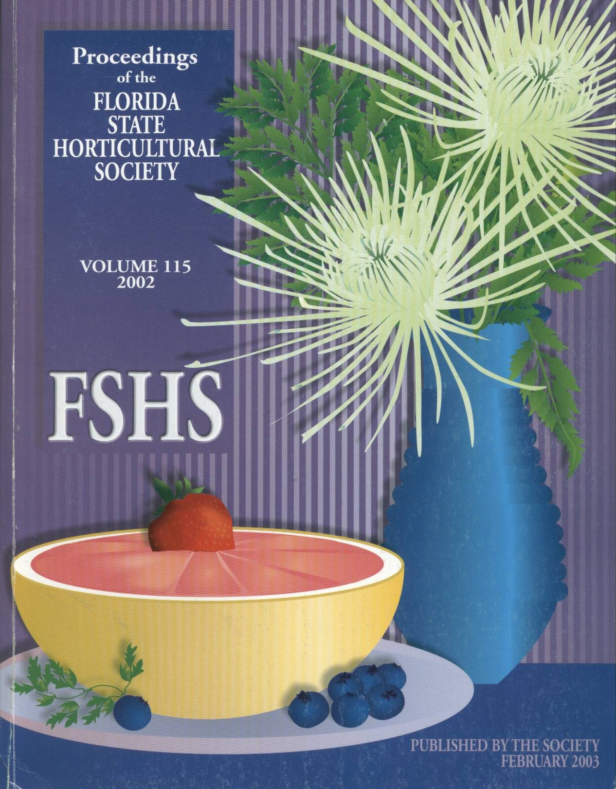 front cover of vol 115, 2002