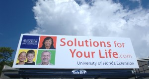 Solutions for your Life billboard. UF/IFAS File Photo.