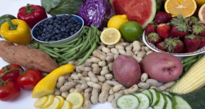 Mix of fruits, vegetables and legumes  Photo Credits:  UF/IFAS Photo by Tyler Jones
