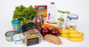 """""""Assortment of food and groceries that can be purchased for under twenty-five dollars. Photo taken 11-09-16."""