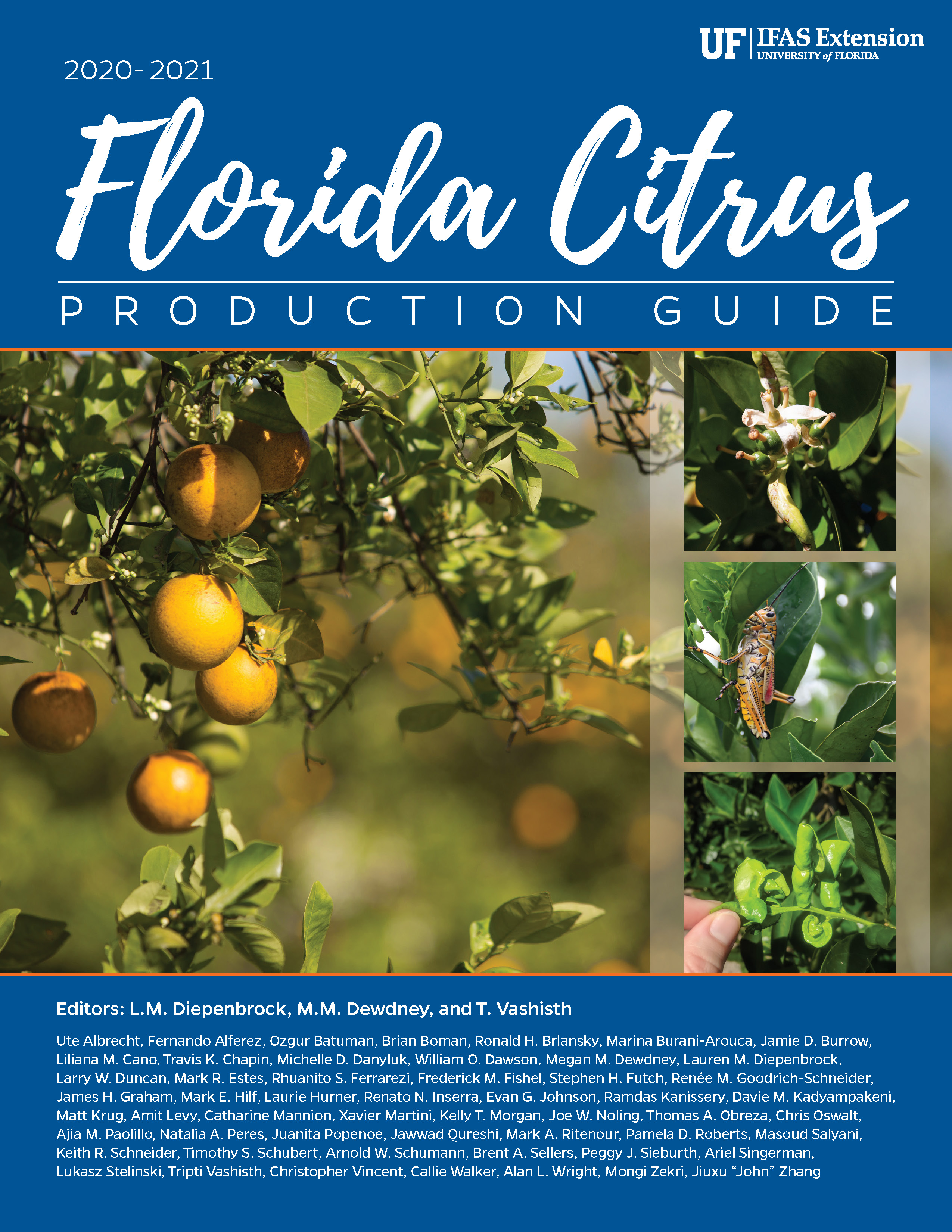 book cover for 2020-2021 Florida Citrus Production Guide