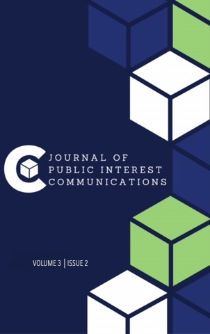 Cover of the Journal of Public Interest Communications Volume 3 Issue 2