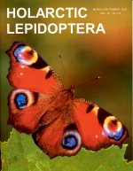 Cover image of Holarctic Lepidoptera showing an orange butterfly.